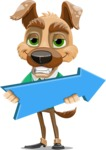 Dog With Clothes Cartoon Vector Character AKA Woofgang Dog - Pointer 2
