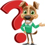 Dog With Clothes Cartoon Vector Character AKA Woofgang Dog - Question