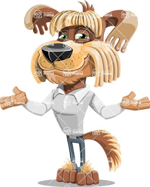 Fluffy Dog Cartoon Vector Character AKA Pinky Funk - Sorry