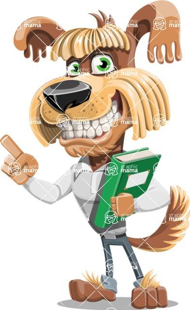 Fluffy Dog Cartoon Vector Character AKA Pinky Funk - Book 3