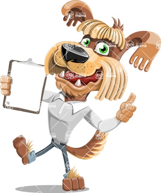 Fluffy Dog Cartoon Vector Character AKA Pinky Funk - Notepad 1