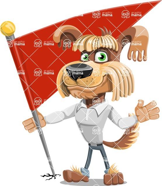 Fluffy Dog Cartoon Vector Character AKA Pinky Funk - Checkpoint