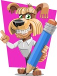 Fluffy Dog Cartoon Vector Character AKA Pinky Funk - Shape 5