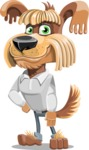 Fluffy Dog Cartoon Vector Character AKA Pinky Funk - Patient