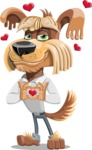 Fluffy Dog Cartoon Vector Character AKA Pinky Funk - Show Love