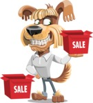 Fluffy Dog Cartoon Vector Character AKA Pinky Funk - Sale