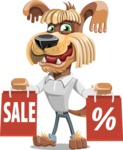 Fluffy Dog Cartoon Vector Character AKA Pinky Funk - Sale 2