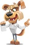 Fluffy Dog Cartoon Vector Character AKA Pinky Funk - Calculator