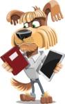 Fluffy Dog Cartoon Vector Character AKA Pinky Funk - Book and iPad
