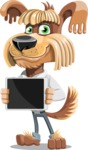 Fluffy Dog Cartoon Vector Character AKA Pinky Funk - iPad 2