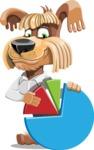 Fluffy Dog Cartoon Vector Character AKA Pinky Funk - Chart