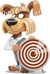 Fluffy Dog Cartoon Vector Character AKA Pinky Funk - Target