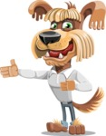 Fluffy Dog Cartoon Vector Character AKA Pinky Funk - Show 2