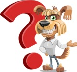 Fluffy Dog Cartoon Vector Character AKA Pinky Funk - Question