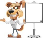 Fluffy Dog Cartoon Vector Character AKA Pinky Funk - Presentation 1