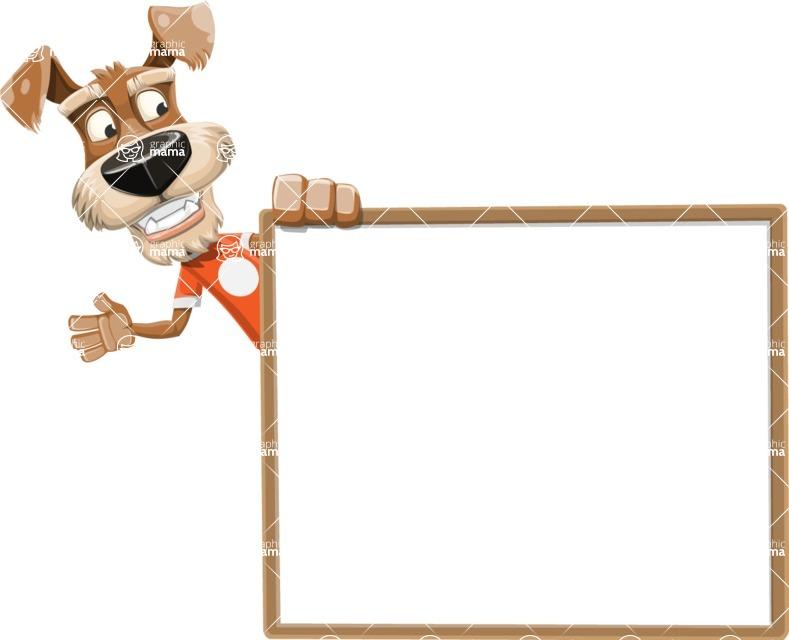 Dressed Dog Cartoon Vector Character AKA Sparky Jones - Presentation 5