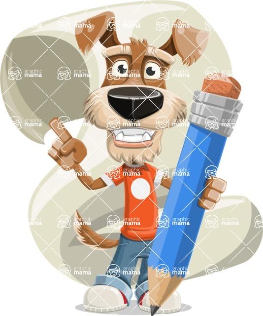 Dressed Dog Cartoon Vector Character AKA Sparky Jones - Shape 5
