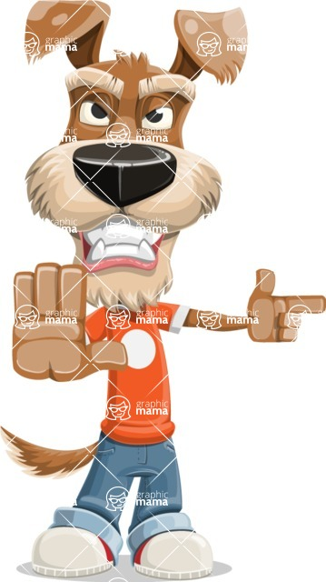 Dressed Dog Cartoon Vector Character AKA Sparky Jones - DirectAttention 2
