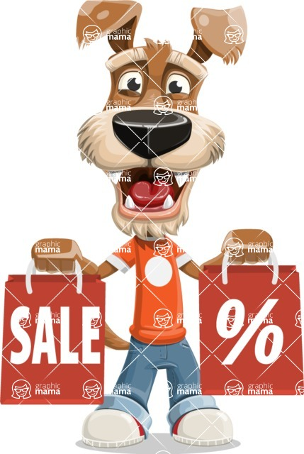 Dressed Dog Cartoon Vector Character AKA Sparky Jones - Sale 2