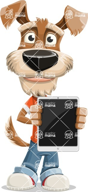 Dressed Dog Cartoon Vector Character AKA Sparky Jones - iPad 1