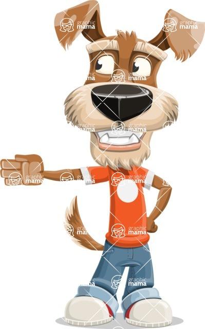Dressed Dog Cartoon Vector Character AKA Sparky Jones - Show