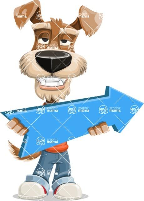 Dressed Dog Cartoon Vector Character AKA Sparky Jones - Pointer 2