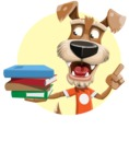 Dressed Dog Cartoon Vector Character AKA Sparky Jones - Shape 2
