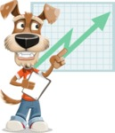 Dressed Dog Cartoon Vector Character AKA Sparky Jones - Shape 6