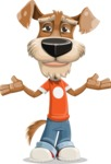Dressed Dog Cartoon Vector Character AKA Sparky Jones - Sorry