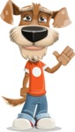 Dressed Dog Cartoon Vector Character AKA Sparky Jones - GoodBye