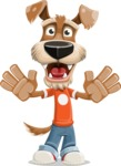 Dressed Dog Cartoon Vector Character AKA Sparky Jones - Hello