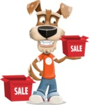 Dressed Dog Cartoon Vector Character AKA Sparky Jones - Sale