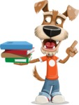 Dressed Dog Cartoon Vector Character AKA Sparky Jones - Book 2