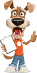 Dressed Dog Cartoon Vector Character AKA Sparky Jones - Notepad 1