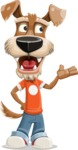 Dressed Dog Cartoon Vector Character AKA Sparky Jones - Showcase 2