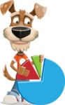 Dressed Dog Cartoon Vector Character AKA Sparky Jones - Chart