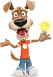 Dressed Dog Cartoon Vector Character AKA Sparky Jones - Idea 1