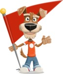 Dressed Dog Cartoon Vector Character AKA Sparky Jones - Checkpoint