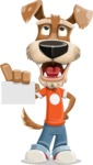 Dressed Dog Cartoon Vector Character AKA Sparky Jones - Sign 1