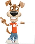 Dressed Dog Cartoon Vector Character AKA Sparky Jones - Sign 2