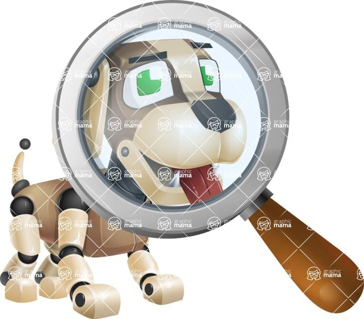 Futuristic Robot Dog Cartoon Vector Character AKA Barkey McRobot - Search