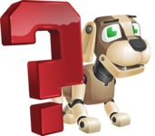 Futuristic Robot Dog Cartoon Vector Character AKA Barkey McRobot - Question