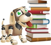 Futuristic Robot Dog Cartoon Vector Character AKA Barkey McRobot - Books