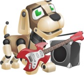 Futuristic Robot Dog Cartoon Vector Character AKA Barkey McRobot - Music