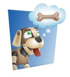 Futuristic Robot Dog Cartoon Vector Character AKA Barkey McRobot - Shape3