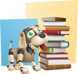 Futuristic Robot Dog Cartoon Vector Character AKA Barkey McRobot - Shape10
