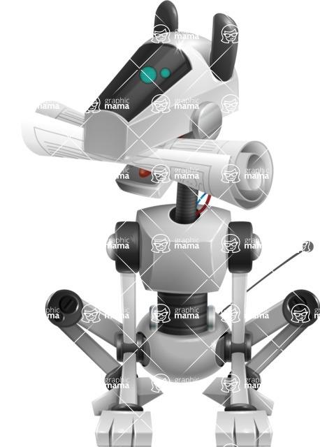 High-Tech Robot Dog Cartoon Vector Character AKA BARD - Newspaper