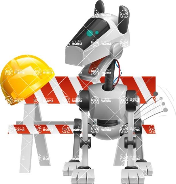 High-Tech Robot Dog Cartoon Vector Character AKA BARD - Under Construction1