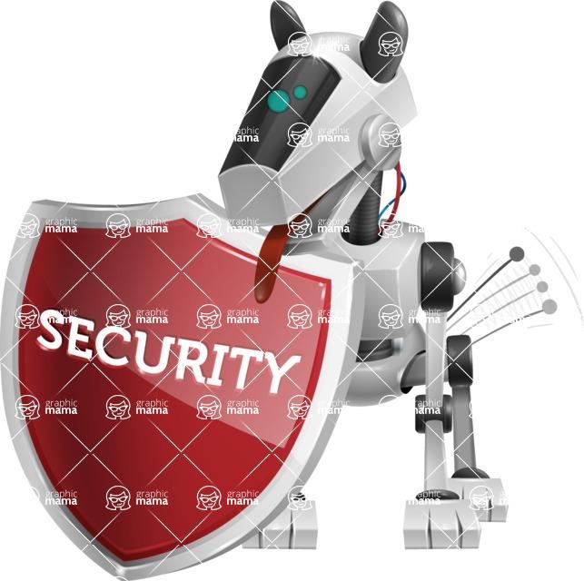 High-Tech Robot Dog Cartoon Vector Character AKA BARD - Protect 1