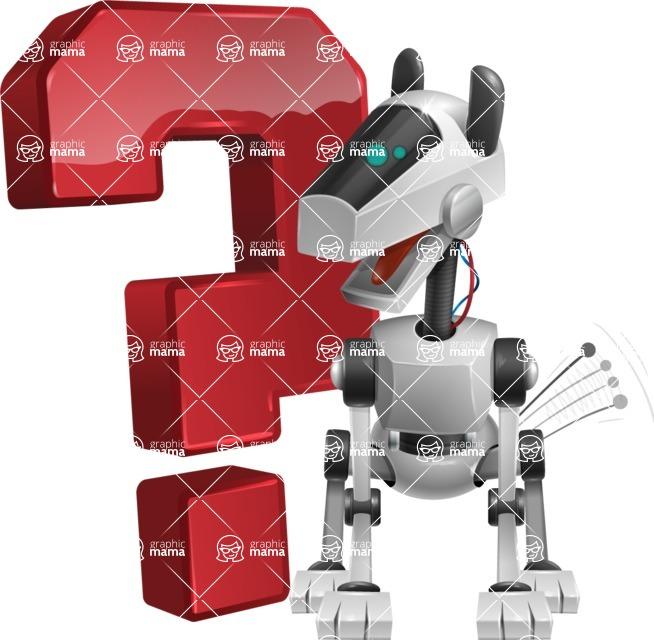 High-Tech Robot Dog Cartoon Vector Character AKA BARD - Question